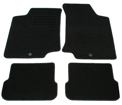 AD Tuning GmbH HG2723 Velours Passform Fußmatten Set Schwarz Autoteppiche Teppiche Carpet Floor mats