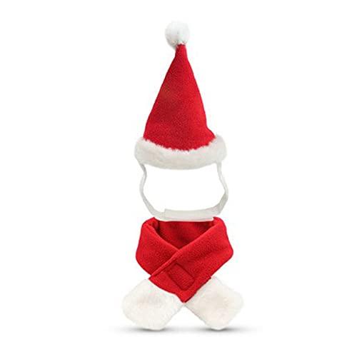 Gorras para perros de Papá Noel sombrero de cumpleaños bufanda conjunto de suministros para mascotas traje de Navidad para cachorros pequeños gatos perros mascotas Accesorios