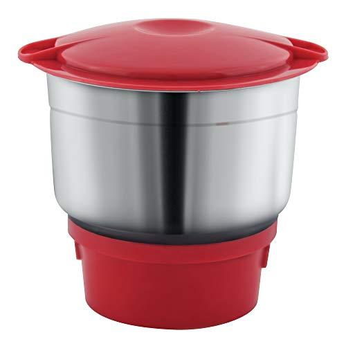 Maharaja Whiteline MG Livo MX-151 500-Watt Mixer Grinder with 3 Jars (Red)