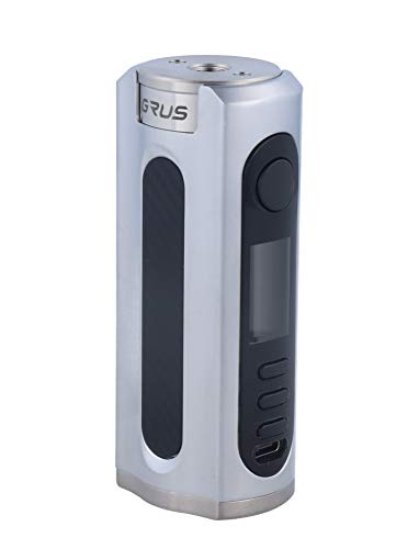 Lostvape Grus 100W Box Mod Silver Carbon Fiber   Lost Vape  * Producto SIN NICOTINA *  - Silver, para 1 Batería Externa