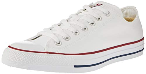 Converse Unisex Chuck Taylor All Star Ox Low Top Classic Optical White Sneakers - 6 Men 8 Women