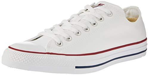 Converse Chuck Taylor all Star Core Lea Ox, Scarpe modalità Unisex Adulto, Bianco (Blanc - Blanc optique), 10 UK