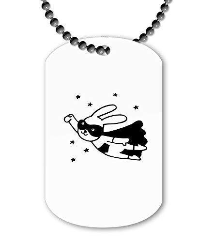 Miammo Scandinavian Style Doodle Super Bunny ballchain Pendant - Dog tag Style Necklace