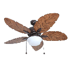 Harbor Breeze Waveport 52-in Weathered Bronze Indoor/Outdoor Downrod Ceiling Fan with Light Kit (5-blade) at Lowes.com