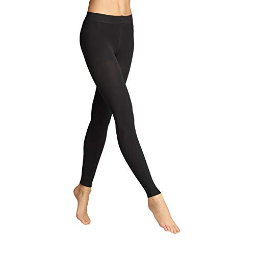 ITEM m6 - COSY WINTER LEGGINGS DAMEN | schwarz | M | L1 | Blickdichte Leggings im 100 DEN Look mit Kompression