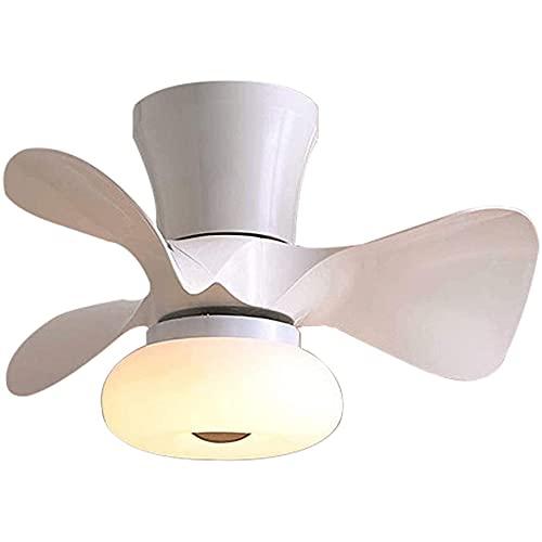 Ventilador De Techo Con Luz, Control Remoto Regulable Y Candelabro De Velocidad Del Viento Silencioso, Sala De Estar, Dormitorio, Ventilador Para Habitación De Niños,Blanco