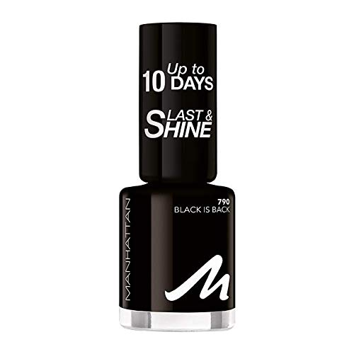 Manhattan Last und Shine Nagellack, Nr.790 Black is Back, 1er Pack (1 X 10 ml)