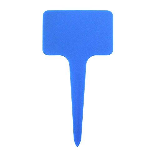 Inconnu 20 pcs T-Forme en Plastique Jardin étiquettes de Classification Label pour Graine de Plantes marqueurs pépinière(Bleu)