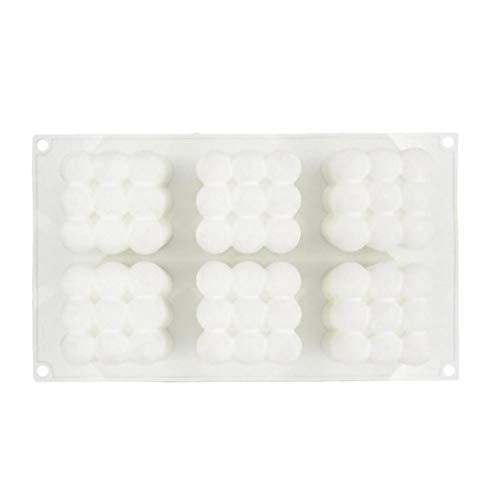 Hiinice Velas Moldea DIY 3D Cubo De Silicona Molde para La Pasta De Azúcar Artesanía Adornos Vela Perfumada Cera De Soja 6 Cavidad Whitehand Herramientas