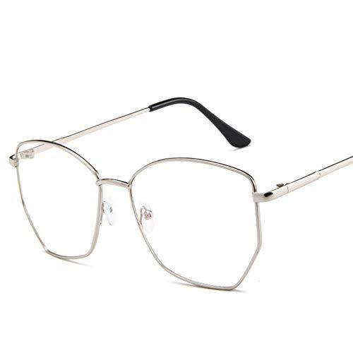RQMQRL Retro Occhiali da Vista in Metallo Nerd per Donna Uomo Vintage Chiaro Falso Occhiali da Vista del Progettista di Marca Occhiali da Vista Esagonale