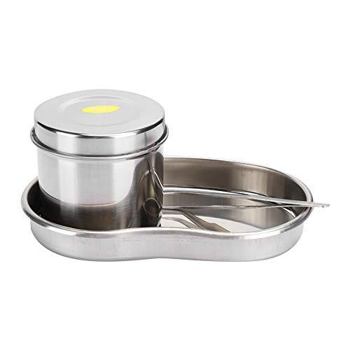 3 Pcs Tatouage En Acier Inoxydable Plateau Pot Pince Courbée Incurvée Anti-corrosion Accessoire de Tatouage(201-8 Pince à épiler courbée)