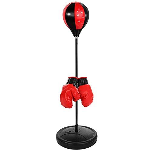 QHGao Saco De Boxeo con Soporte para Niños, Práctico Pie De Boxeo Bola De Velocidad Ajustable En Altura Juego De Boxeo Bola, Juguete De Descompresión