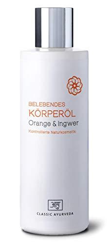 Classic Ayurveda Belebendes Körperöl Orange & Ingwer, 200 ml