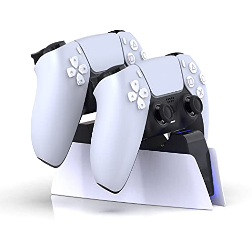 Lioncast Controller Ladestation für PS5 mit LED-Anzeige   Fast Charging   Controller Charger für original Sony Playstation 5 Controller   PS5 Zubehör   Wireless Playstation DualSense Controller