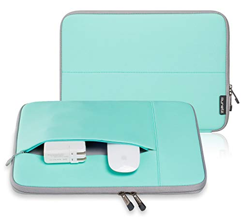 Runetz - MacBook Pro 13 inch Sleeve Neoprene Laptop Sleeve 13.3 inch MacBook Air 13 inch Sleeve Notebook Computer Bag Protective Case Cover with Accessory Pocket with Zipper - Teal