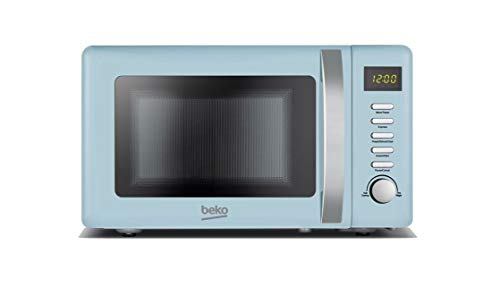 Beko Solo Retro Microwave 20L 800W - Duck Egg Blue