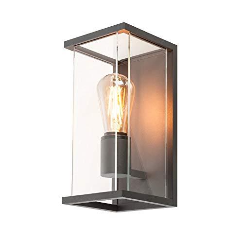 SLV Wandleuchte QUADRULO | für die effektvolle Außenbeleuchtung von Wänden und Hauseingang | Wandstrahler, Wandlampe, Aussenleuchte, Gartenlampe, Wegeleuchte | E27, 15W max, EEK bis A++