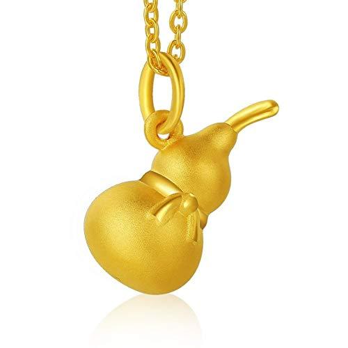 Accesorios Colgante, Collar de la Calabaza 3D del Colgante de Oro Amarillo Regalo