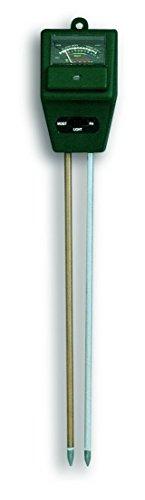 TFA Dostmann Analoger Garten Kombitester, 48.1000, zur Messung von Feuchte, Licht und pH-Wert, für die Pflanzenpflegem grün