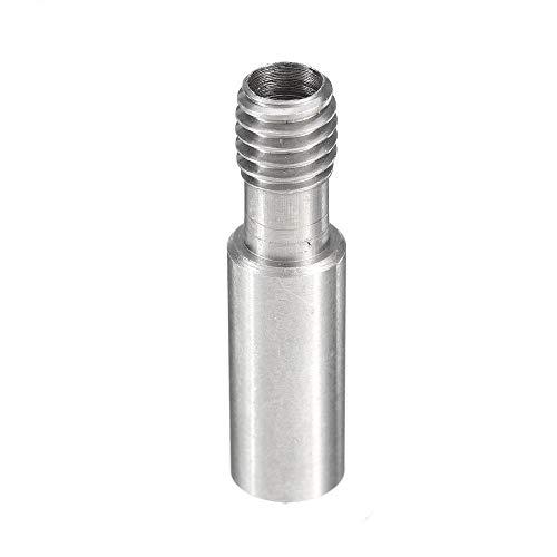 ZJYSM U00a0Accessories 3 Pcs Sliver M6 Stainless Steel Nozzle Throat for 3D Printer Part Heater Block