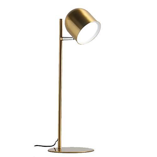 Lámpara de escritorio LED 8W Recargable Ahorro de energía Libro de lectura Luz Cuidado de los ojos 3 modos de color Regulable 360 ° Ajuste de la cabeza Luz de mesita de noche para dormitorio,3600mAh,
