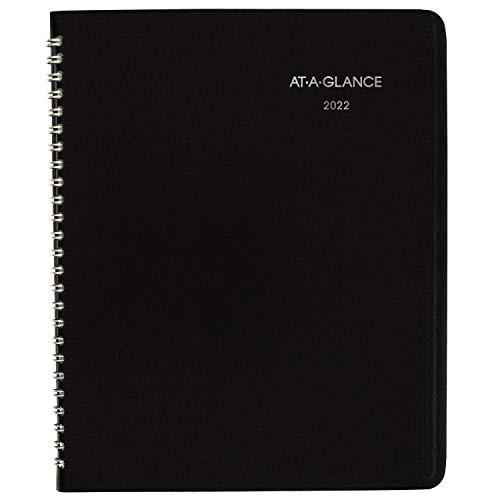 2022 Monthly Planner by AT-A-GLANCE, 7' x 8-3/4', Medium, DayMinder, Black...