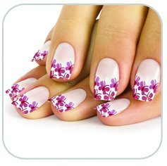 Faux ongles petits papillons roses