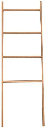 Massief houten garderobe badkamerdoek plank trapezium- wand halfronde hanger (kleur: rood eiken, grootte: vijf verdiepingen) Four floors Red Oak