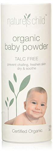 Natures Child Babypuder Bio ACO zertifiziert natürlich - Australien hergestellt - tierversuchsfrei & vegan - glutenfrei - ohne synthetische Duftstoffe oder Konservierungsstoffe, weiß, 100 g, NAT100