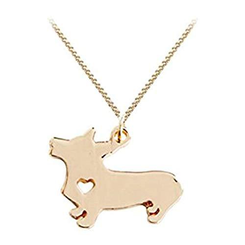 Hecho a Mano Accesorios Corgi Collar, Plata o Oro, Collar de Perro, Collar de Mascota