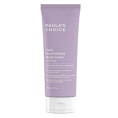 Paula's Choice Daily Replenishing Body Cream - Leichte Creme für den Körper mit Shea Butter & Antioxidantien - auch für Empfindliche Haut - Alle Hauttypen - 210 ml