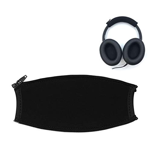 QC3 Headband Cover Replacement Headband Protector with Zippe for Bose SoundTrue AE2 OE1 OE2 QC3 Headphones Replacement Headband Cushion Pad Repair Parts/Easy DIY (Black + No Tool Needed)