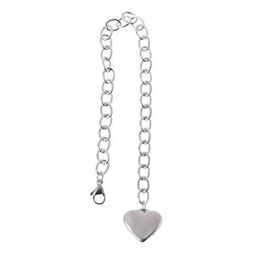 VVXXMO enlace de cadena de acero inoxidable, pulseras con corazón de acabado, pulsera de encanto