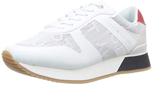 Tommy Hilfiger Tommy Jacquard City Sneaker, Zapatillas Mujer, Rojo (RWB 020), 41 EU