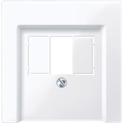 Merten 296025 Zentralplatte für TAE/Audio/USB, aktivweiß glänzend, System M