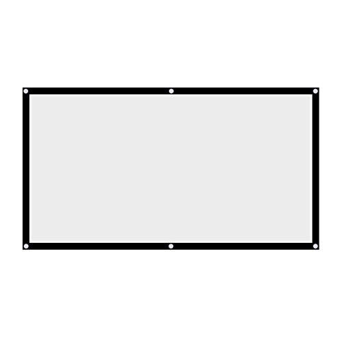 60 '' / 72 '' / 84 '' / 100 '' 120 '' Inch Projektor Leinwand 16: 9 HD 4K Tragbare Faltbare Projektion Leinwand mit Schwarzem Kanten und Hängenden Löchern für Heimkino, Open Air Kino usw.(60 inch)