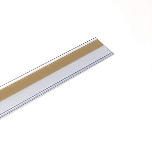 Pack de 50 portaprecios con adhesivo a 1 metro para etiquetas de 30mm Color transparente.