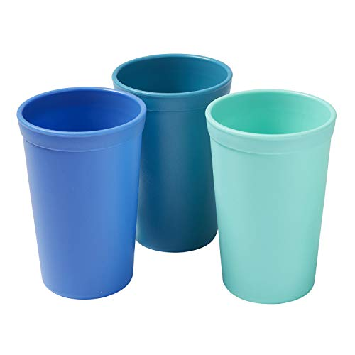 ECR4Kids ELR-18102-TRP My First Meal Pal Drinking Cup – BPA-Free, Dishwasher Safe, Stackable Tumblers, Kids Cup Set for Baby, Toddler and Children - 3-Pack, Tropical