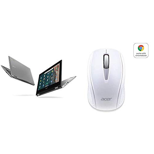 Acer Chromebook Spin 311 CP311-2H-C3KA Convertible Laptop with Acer Wireless White Mouse M501 - Certified by Works with Chromebook