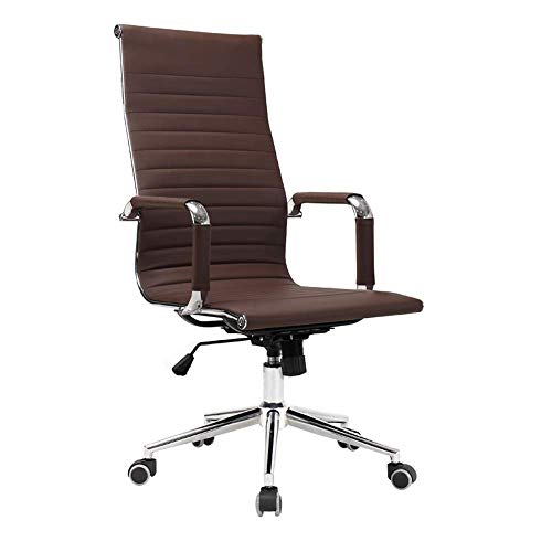 Daily Equipment Chair Computerstuhl Drehbarer Executive-Computerstuhl Höhenverstellbare Liege Ergonomischer Bürostuhl Abnehmbarer Armlehnen-Schreibtischstuhl aus Leder für Büro-Besprechungsräume Ho