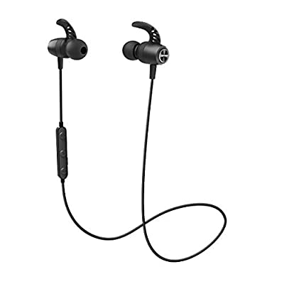 Bluetooth Headphones, Mpow S16 Wireless Bluetooth 5.0 Earphones w/12H Playtime, HD Stereo Bass/IPX7 Waterproof with Noise Cancelling Mic In Ear Sports Earphones/with Mic for Running, Working Gym by Mpow