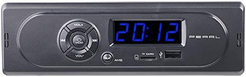 PEARL Radio USB: MP3-Autoradio CAS-300 mit Wiedergabe von USB & microSD, 2X 7 W (Radio Auto)
