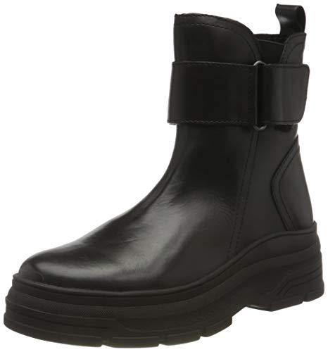 MARCO TOZZI Damen 2-2-25472-25 Leder Stiefelette, Black, 39 EU