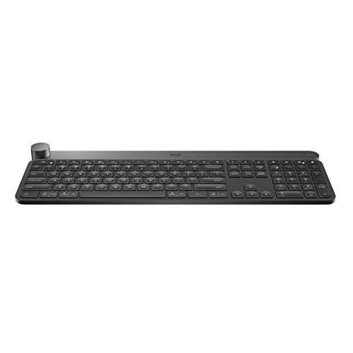 Logitech Craft Advanced Wireless Keyboard with Creative Input Dial and Backlit Keys,...
