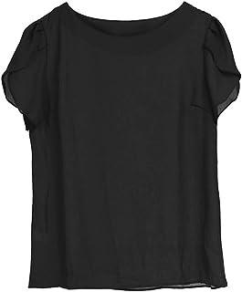 Fyuanmeiinsdxnv Womens tops summer Summer Women Chiffon Blouse Short Sleeve Ladies Office Ladies Shirts Plus Size Work Top...