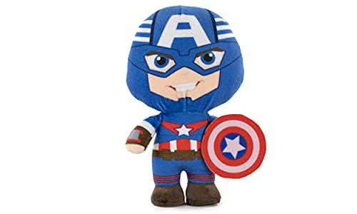 Peluches de los Personajes del Universo Marvel, Avengers, Guardianes de la Galaxia - Calidad Super Soft (20cm, Capitan América)
