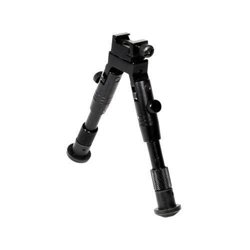 UTG Shooter's SWAT Bipod, Rubber Feet, Height 6.2'-6.7'