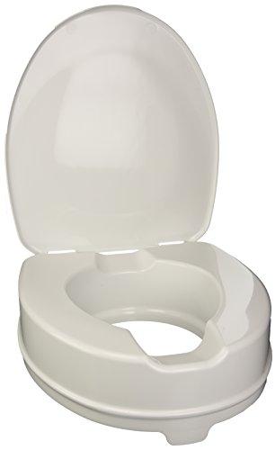WC-Sitzerhöhung mit Befestigungssystem + Deckel, Erhöhung 10 cm
