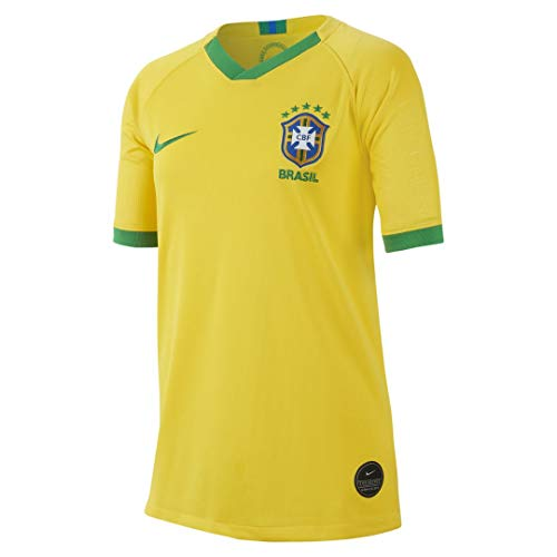 Nike Brazil 2019-20 WC Youth Home Jersey - Yellow M