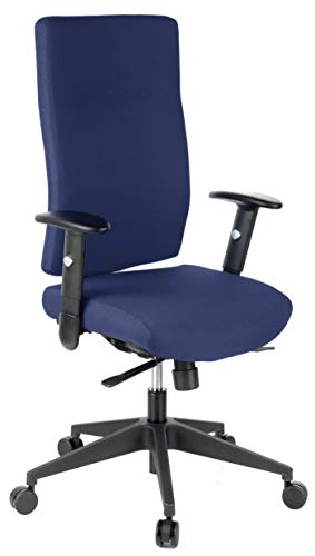 HJH Office Pro-Tec 300 Silla de Oficina, Tela, Azul, 38x88x62 cm